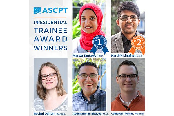 ASCPT 2020 Trainee Award Winners